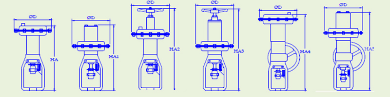 actuator-dimensions-3way-globe-valve